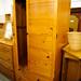 Tall solid wood wardrobe