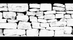 Cracks (CJS*64) Tags: bw monochrome wall mono blackwhite nikon stones cracks nikkor cracked cjs whiteblack nikkorlens entwistle entwistlereservoir 18mm105mmlens d3100 nikond3100 craigsunter cjs64