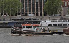 Reclaim at Westminster (Hawkeye2011) Tags: uk london westminster boats marine ships transport maritime tug riverthames pla reclaim 2015
