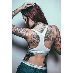 (marchayden15) Tags: red love girl beauty fashion tattoo ink square cool alt style tattoos redhead squareformat denim calvins calvinklein inked altmodel altgirl inkedgirls girlswithink iphoneography instagramapp mycalvins