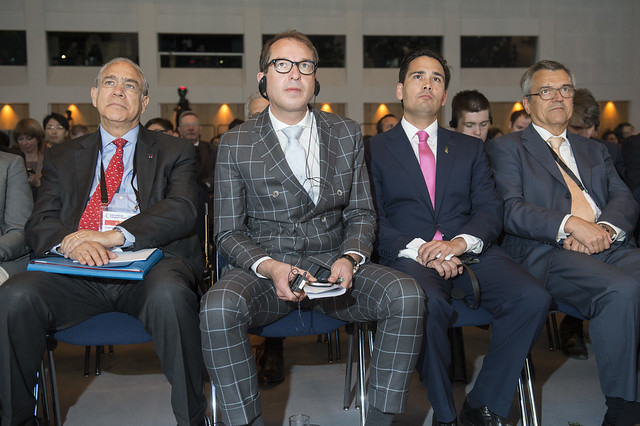 Angel Gurría, Alexander Dobrindt, Simon Bridges and José Viegas attending