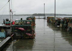Boutiliers Point, Nova Scotia, Canada (jonfromnsca) Tags: mesh pot wharf lobster trap