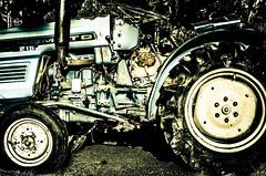 Vieux Bleu (david_02863) Tags: blue tractor metal azul contrast vintage lomo lomography nikon force antique farm parts machine tire bleu contraste rue antiguo mecanica mechanics mecanique tracteur maquina granja crawler llanta cuivre fuerza jante brassy metalico metallique d5100