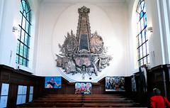 NH kerk Burgh (roberke) Tags: art church netherlands artwork drawing paintings nederland indoor zeeland schilderij exhibition visitor kerk tekeningen tentoonstelling burgh schouwenduiveland bezoeker nhkerkburgh kunstschouw2016