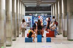 Waiting for the M2 - Milan (DecaFlea) Tags: milan milano metro m2 waiting street