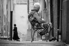streetdream (usurfaru_) Tags: street lady old city cityscape italy black white monocromo sicily photography travel