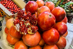 Mumbai, India (DitchTheMap) Tags: above red food india white black color macro green nature closeup fruit dark dessert juicy healthy asia flickr drink sweet eating juice background group seed pomegranate fresh pomegranates meal vegetarian half tropical bunch maharashtra organic diet agriculture mumbai section isolated freshness ripe 2016 antioxidant