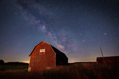 Rural Skies (Tom Hughes Photo) Tags: night barn rural canon michigan milkyway evart