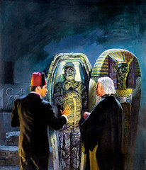 "Famous Monsters of Filmland #83 (1971), ""The Mummy's Tomb"" cover by Basil Gogos (Tom Simpson) Tags: illustration vintage painting 1971 horror sarcophagus mummy 1970s famousmonsters basilgogos famousmonstersoffilmland themummystomb"