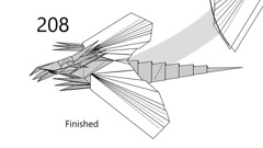 Winged dragon finished (Mdanger217) Tags: max danger origami dragon step final diagram winged inkscape