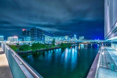 visit Berlin (Klaus Mokosch) Tags: berlin deutschland nacht night travel reise langzeitbelichtung longexposure reflection spiegelung klausmokosch hdr cloud wolken bluehour blauestunde architektur architecture wasser water urban city blue hour wow