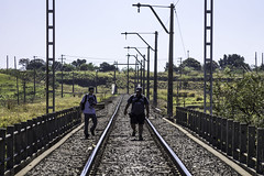 "2253'42.8""S 4708'13.6""W (Fabio_CPS) Tags: railroad railway rust color cam treking outdoor power nature angular street sd70 ac44 ge extreme calor hot sun"