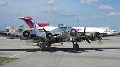 B-17 Sentimental Journey, July 6, 2014, Hamilton, Canada (Light Paintings by Dez) Tags: canada airplane hamilton airshow b17 sentimentaljourney b17flyingfortress ww2airplane