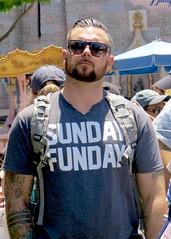 IMG_5770 (danimaniacs) Tags: man hot sexy guy beard disneyland hunk scruff