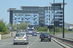 First Bus 37513 Departing Sheffield. (ManOfYorkshire) Tags: yn58esu bus first group traffic parkway sheffield city centre service wright b9tl gemini volvo ford ka bmw vauxhall hyundai renault 37513