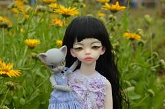 After the thunderstorm (2) (JL_the_Lion) Tags: afterthethunderstorm msd bjd doll dim adina nyka hujoo freya mika outdoor flowers safrindoll eyes bold olivine