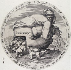 There is always a way to a rich man's money, be it by his backside (petrus.agricola) Tags: twelve proverbs flemish dutch after pieter bruegel elder etching probably hieronymus wierix jeronymus