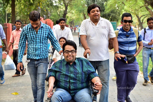 Accessible Tour of Red Fort, New Delhi: Rahul, one of our consistent supporter and traveller, who is a wheelchair user, was also a part of the Red Fort Tour.