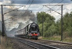 46233 (Geoff Griffiths Doncaster) Tags: 46233 duchess sutherland steam loco locomotive engine stanier pacific arksey doncaster cathedrals express