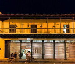 Cuban Night Street Scene, Camaguey (E.K.111) Tags: topazdenoise lightroom6 canon5dmarkiii iso12800 nightshots street people candid