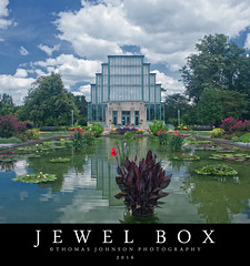 Jewel Box (Thomas  Johnson Photography) Tags: missouri outside outdoors canon digital 40d scenic jewelbox jewel box forest park forestpark 2016 thomasjohnsonphotography thomasjohnsonphotography beautiful water lily pads flowers glass nationalhistoricregister old renovated panes treasure clouds stl saintlouis stlouis
