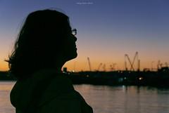 Listen to the evening... (oskaybatur) Tags: silivri türkiye turkey turkei silhouette siluet 2016 oskaybatur günbatımı sunset pentaxk10d sigma1770 bluehour summer august bokeh sky parliamentblue pentaxart justpentax shadow glasses