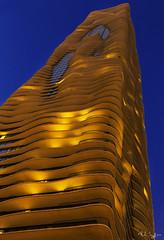 Aqua at Night (rjseg1) Tags: chicago architecture aqua balcony