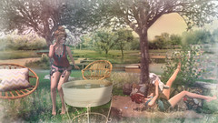 Happy summer day (Anita Armendaiz) Tags: anc bee designs bixty catwa head furniture kalopsia lb maitreya pet second life summer sys the liaison collaborative mens dept truth hair forest