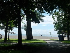 Lake Ontario Beach (Jo Zimny Photos) Tags: beach thebeaches lakeontario toronto canada trees light shadows water sailboats people