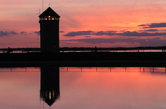 The End Of Another Day (Alan1954) Tags: red england tower reflections coast explore essex brightlingsea batemanstower platinumheartaward platinumpeaceaward