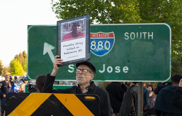 Oakland Freddie Gray Protest: 880S Onramp