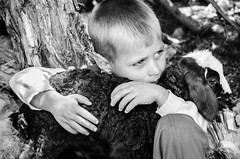 Friendship... (E.Bagherian) Tags: childhood kids children nikon child friendship sheep     d7000   nikond7000