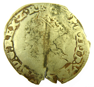 Philip& Mary groat after straightening 1554 - 1558 AD obv