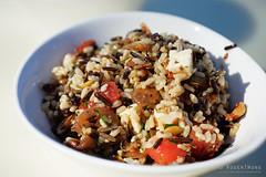 20150413-04-Wild rice salad at MONA cafe (Roger T Wong) Tags: autumn wild food lunch salad cafe rice australia mona watermelon almonds tasmania hobart currants 2015 museumofoldandnewart rogertwong sonyfe55mmf18zacarlzeisssonnart carlzeiss55mmf18 sonya7ii sonyilce7m2 sonyalpha7ii