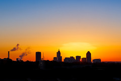 Raleigh's Halo (Marky Mark V) Tags: morning sky skyline sunrise student university downtown state union north raleigh carolina ncsu talley 919 24105l