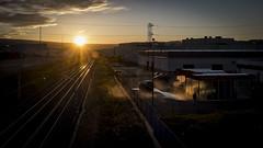 Arizona baby. (Sergio Mora-Gil Crespo) Tags: sky people cloud color sunshine landscape atardecer natur railway cielo nube va