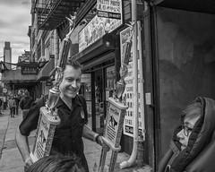 Arch St. near 9th St., 2916 (Alan Barr) Tags: street people blackandwhite bw philadelphia monochrome mono blackwhite chinatown arch candid streetphotography sp streetphoto gr 9thstreet ricoh 2016
