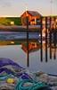Past and present (MaiGoede) Tags: landscape harbor nikon earlymorning hafen landschaft morningsun ammeer wesermarsch dgzrs fischerhafen wesermündung rettungsschuppen alterrettungsschuppen