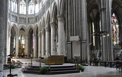 Choir, Crossing and Transept, Cathedral of Rouen, Haute -Normandie, France (mike catalonian) Tags: xvcentury xixcentury xiiicentury xiicentury hautenormandie france middleage medieval gothic rouen cathedral transept crossing choir