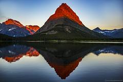 Many Glacier Sunrise (Explored) (steve rubin-writer) Tags: glacier national park montana us sunrise many glaciers