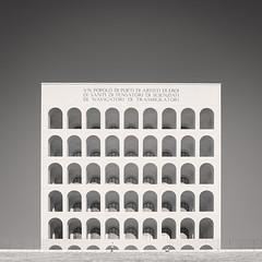 Colosseo Quadrato, Study V (Vesa Pihanurmi) Tags: arc architecture blackandwhite building colosseoquadrato eur facade geometry marble monochrome palazzodellaciviltaitaliana rationalism rome squarecolosseum wall white window
