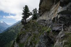 high route Saas-Fee to Grchen (VS) (Toni_V) Tags: m2400811 rangefinder digitalrangefinder messsucher leicam leica mp typ240 type240 28mm elmaritm alps alpen hiking wanderung randonne escursione trail wanderweg hhenweg grchnerhhenweg saasfeegrchen saastal wallis valais oberwallis landscape bridge analogefexpro2 niksoftware switzerland schweiz suisse svizzera svizra europe toniv 2016 160806