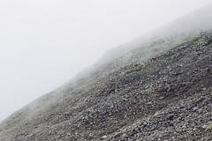 Rock Face (Alex Holyoake) Tags: scotland unitedkingdom gb mountain mountainrange bennevis river hill rockface driving mirror car clouds mist