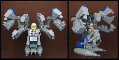 Demolition Man (Karf Oohlu) Tags: moc lego minifig spacerig demolition demolitionman claw claws scifi spaceharness