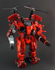 Devastator V4 (DeadGlitch71) Tags: robot lego machine helicopter maddog artillery guns rockets custom titan clone mecha mech pacificrim madcat moc timberwolf battlemech missles mechassault legomoc foitsop combatarmor combatmech titanfall
