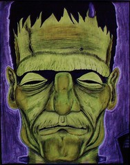 Mister Green (KRS-well) Tags: monster frankenstein castle horror reanimated alive electricity lightning village film cinema movie universal doctor creature feature chiller theatre thirties karloff drawing spooky green scifi brain