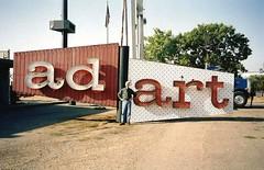 Ad Art signage - Stockton, California - photo appears courtesy Jack Dubois (hmdavid) Tags: adartsign adart sign neon corporate headquarters stockton california 2000 pylon billclarke designer