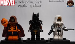 Hobgoblin, Black Panther & Ghost (Random_Panda) Tags: black comics book comic lego fig character ghost books super hero figure superhero characters heroes minifig minifigs superheroes marvel panther figures figs hobgoblin minifigure minifigures