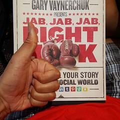 What we're reading for out Dot Com Lifestyle Book Club. Gary V rocks. #garyvaynerchuk #jabjabjabrighthook