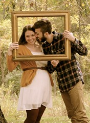 Engagement Photo Shoot (laurazimmerman81) Tags: engagement autumn fall october marriage couple fiance husband wife man woman gold forest beauty ring kiss love cherish romantic romance